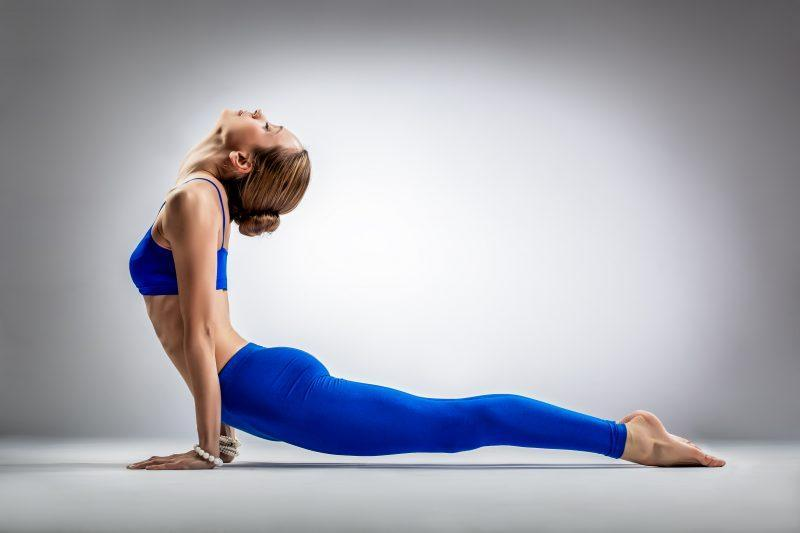 Woman in upward dog