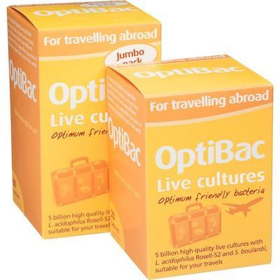 optibac for travelling abroad from The Natural Health Hub
