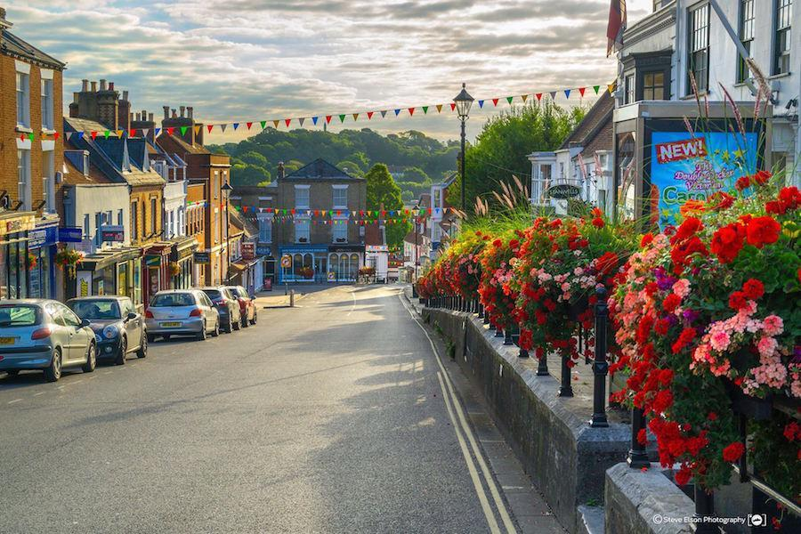Flowers on Lymington High Street by Steve Elson
