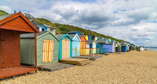 Milford on Sea beach - image by Steve Elson