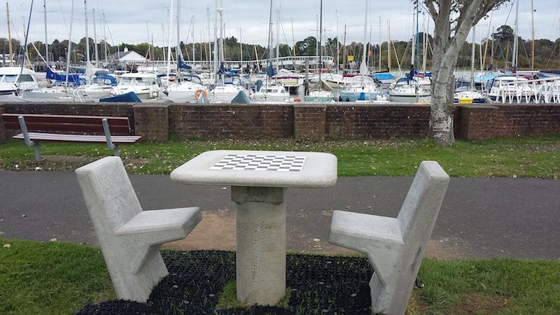 Chess table in Lymington
