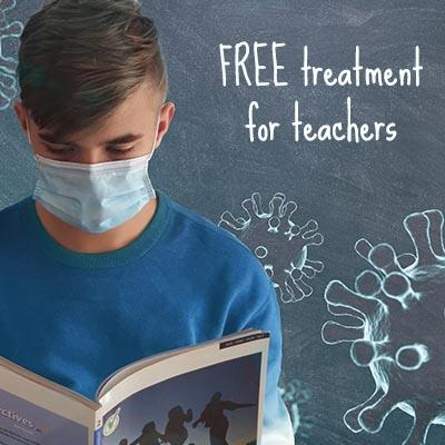 Free treatment for teachers and NHS staff