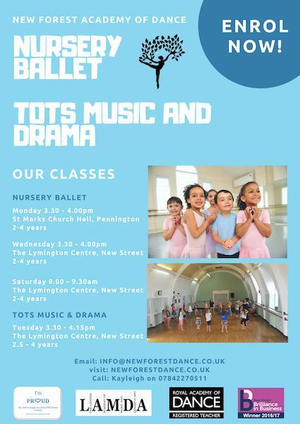 Tots classes at New Forest Academy of Dance