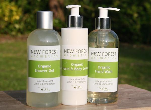 hand body set from New Forest Aromatics