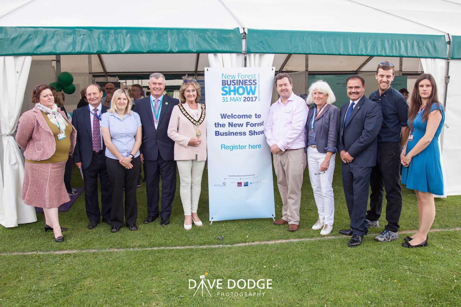 New Forest Business Show team at the opening