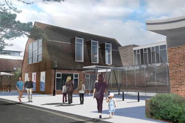 Proposed new look front of Lymington Centre