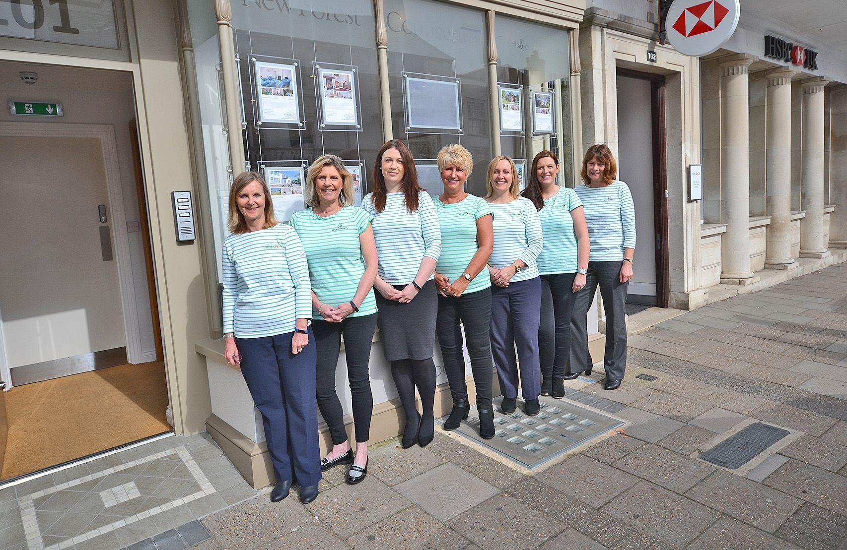New Forest Cottages and Ridgeway Rents team in Lymington