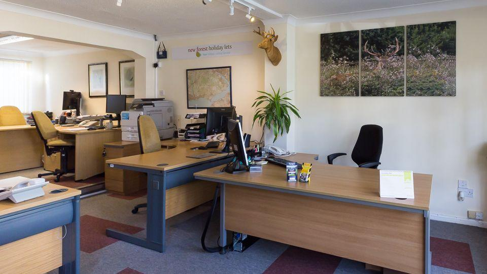 Inside the offices at New Forest Holiday Lets in Brockenhurst