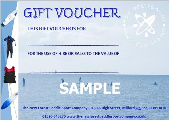 NF Paddle Gift Voucher
