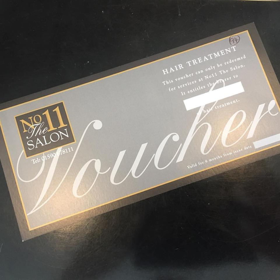gift voucher from No 11 The Salon in Lymington
