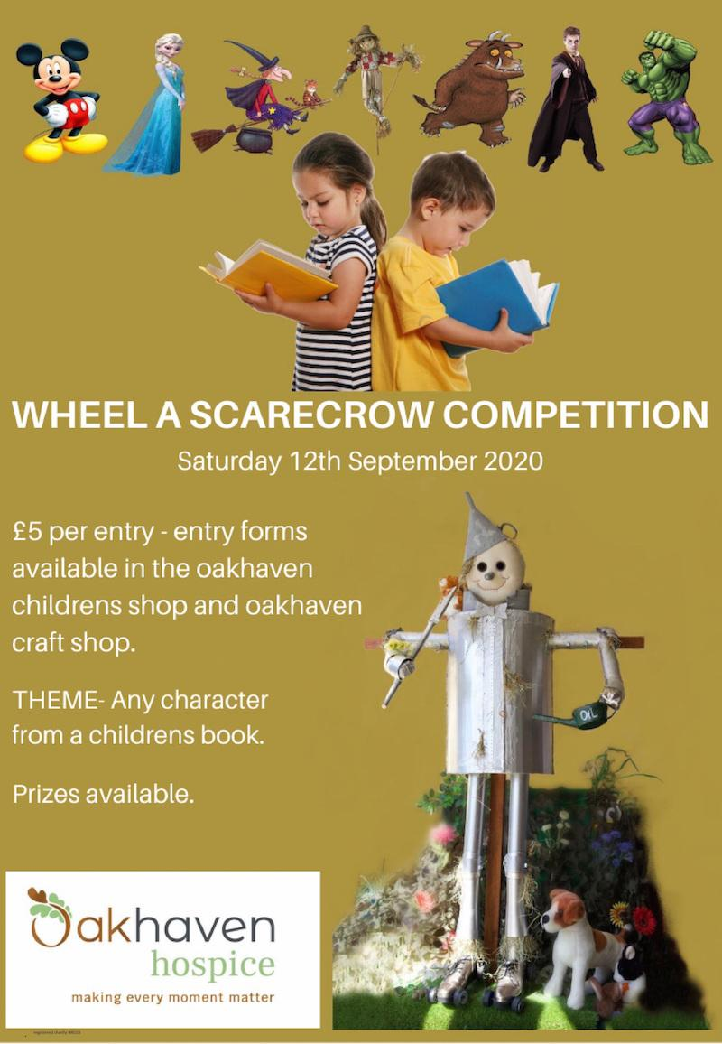 Scarecrow poster for Oakhaven Hospice competition