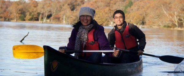 winter paddle with New Forest Activities