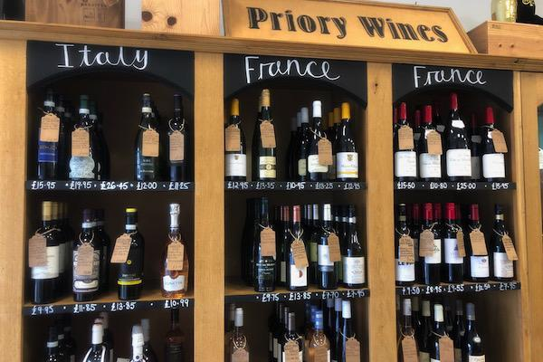 Great selection and expert advice at Priory Wines
