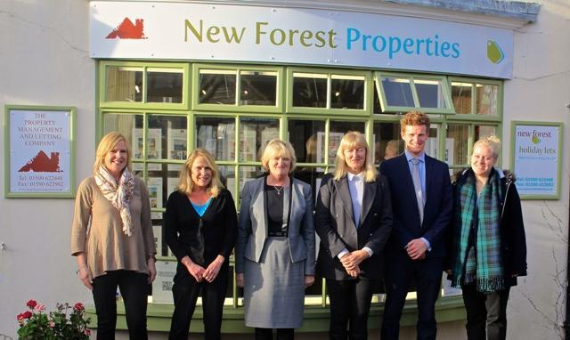 The Property Management and Lettings Company Team outside the office in Brockenhurst
