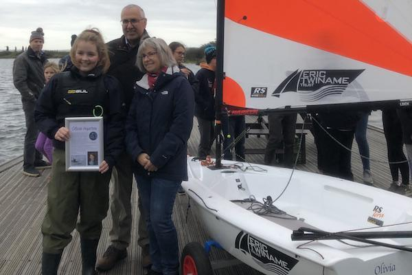 Salterns Sailing Club launch dinghy for Olivia Inspires