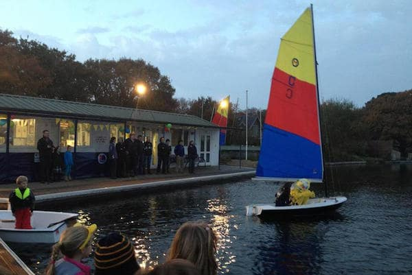 The 20th annual fundraising 24 hour sailathon at Salterns Sailing Club in aid of Children in Need