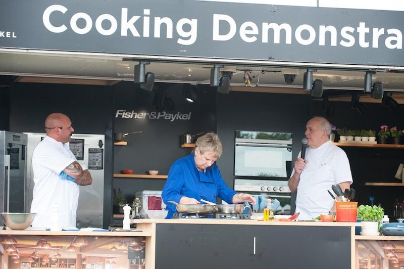 Lymington Seafood Festival cookery demonstrations in 2017