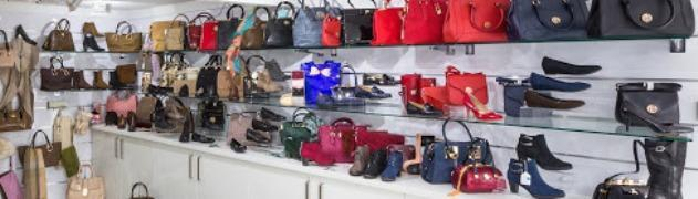 Inside display ladies shoes and bags Suitably Shod Shoes Lymington opening 1 October 2014.jpg - 52.06 KB