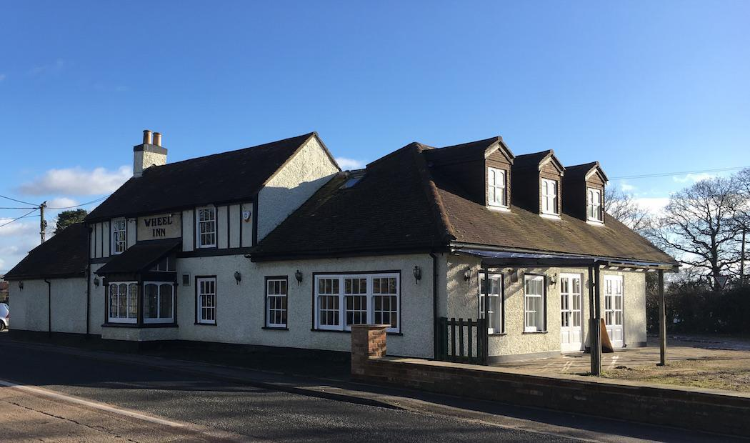 The Wheel Inn in Bowling Green near Lymington on the edge of the New Forest National Park