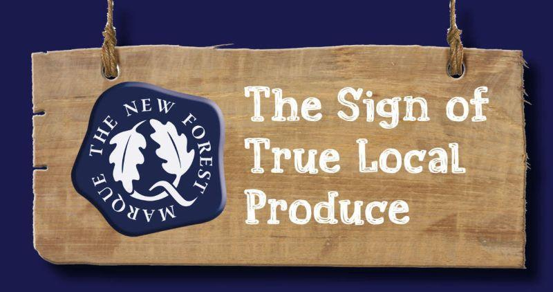new forest marque sign true local produce 800