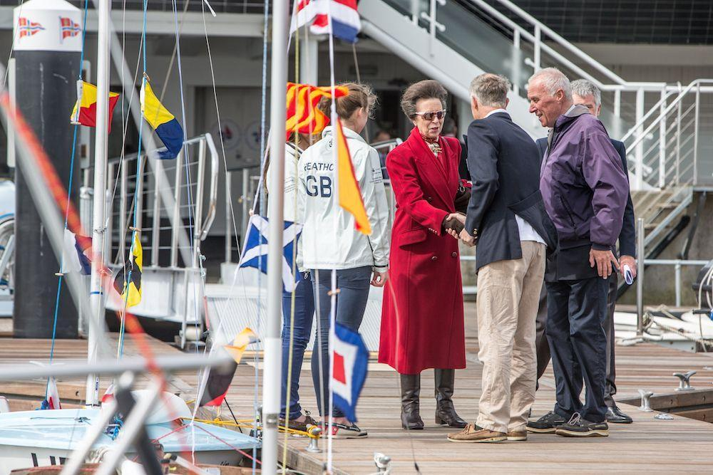 H.R.H The Princess Royal opens the new pontoons at the Royal Lymington Yacht Club