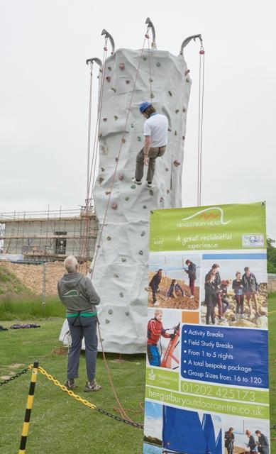 new forest busines expo climbing wall