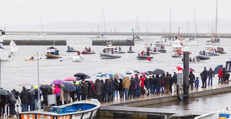 Ocean Brothers flotilla arriving at Lymington Photo Credit Bartley Marketing