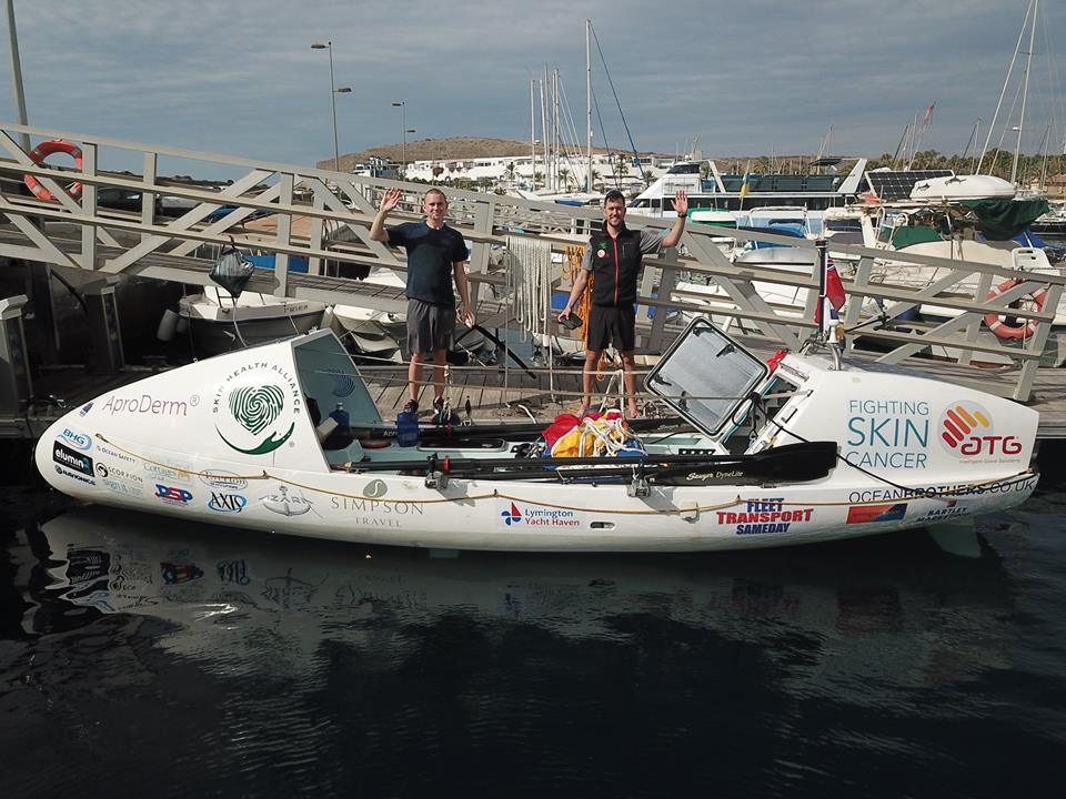 Lymington's Ocean Brothers start their transatlantic row