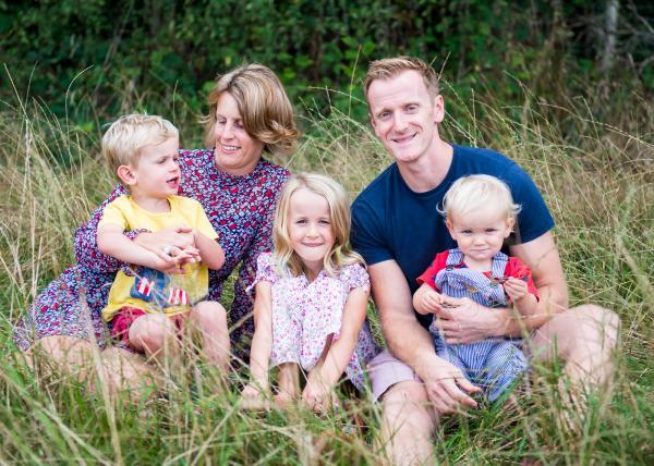 Family lifestyle portraiture on the forest in Hampshire and Dorset