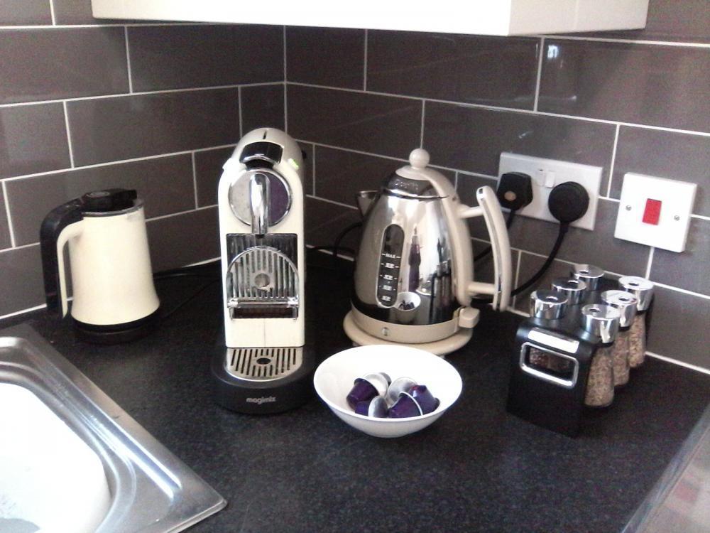 Nespresso coffee machine and pods
