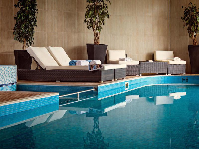Pool and spa at Balmer Lawn New Forest