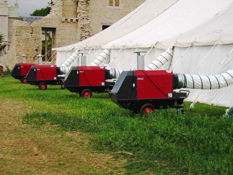 Cooling and Heating Solutions Lymington New Forest marquee