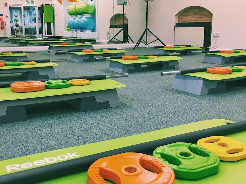 Weights ready for class at Shape Up New Forest