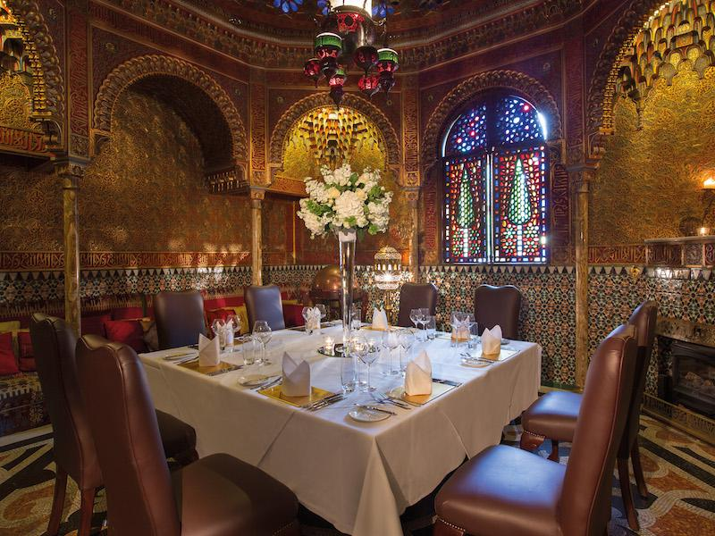 Private Dining in the Alhambra at  Rhinefield House Hotel New Forest
