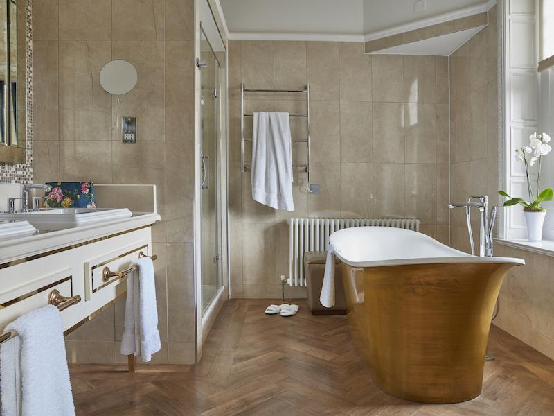 Walker Suite Bathroom at  Rhinefield House Hotel New Forest