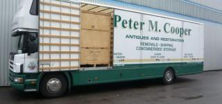 Peter Cooper Removals purpose built transport