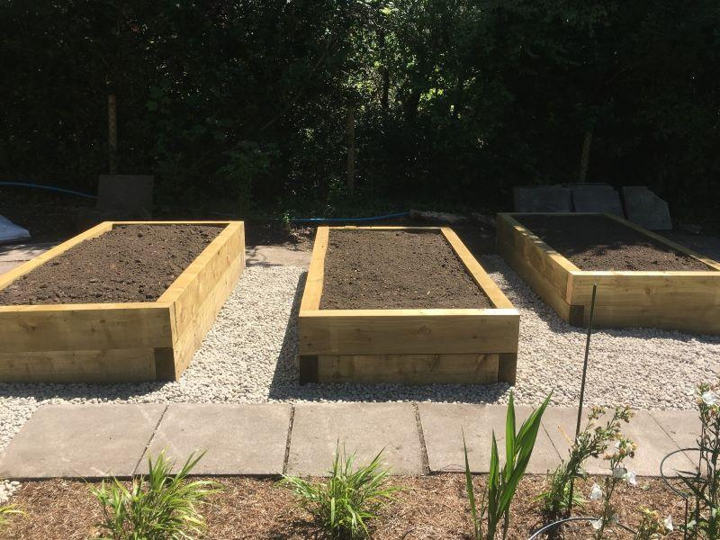 Sterling Gardens garden maintenance raised beds ready for planting