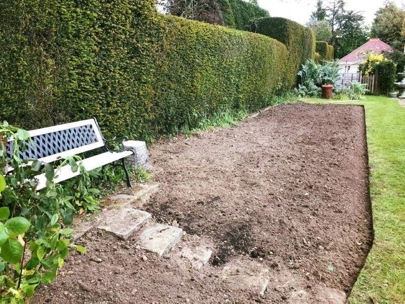 Sterling Gardens garden maintenance a neatly newly prepared plot