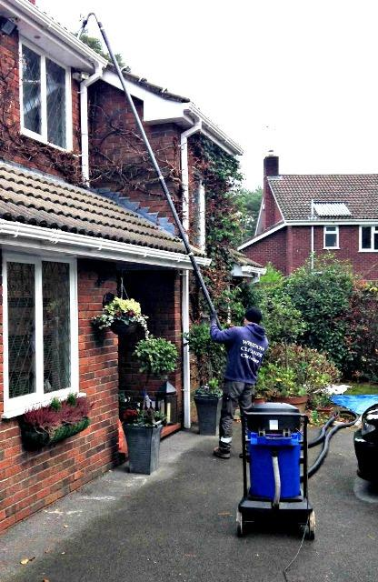 Christies window and gutter cleaning new forest vacuum gutter