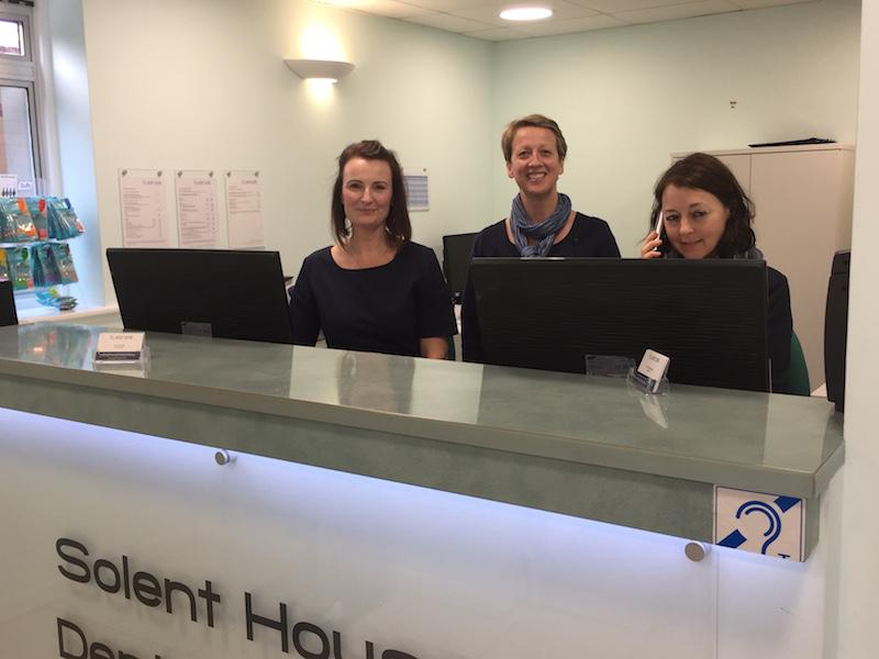 The friendly reception team at Solent House Dental Centre