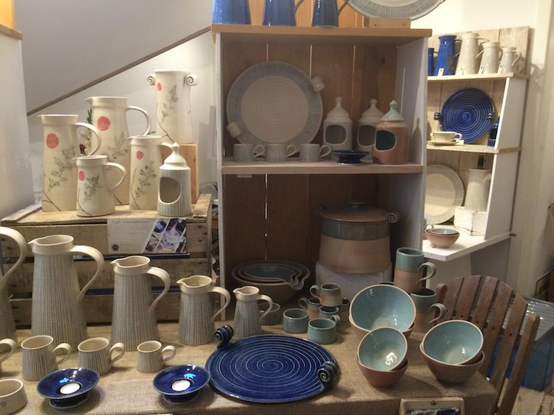 Gallery displaying items crafted by Master Potter Dave Rogers