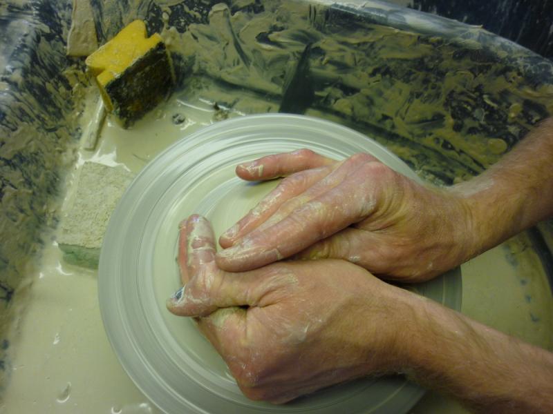 Potters wheel at Vinegar Hill Pottery