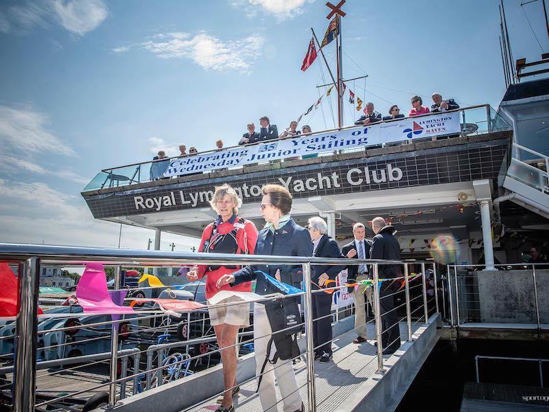 Wednesday Junior Sailor with RLymYC patron HRH Princess Royal