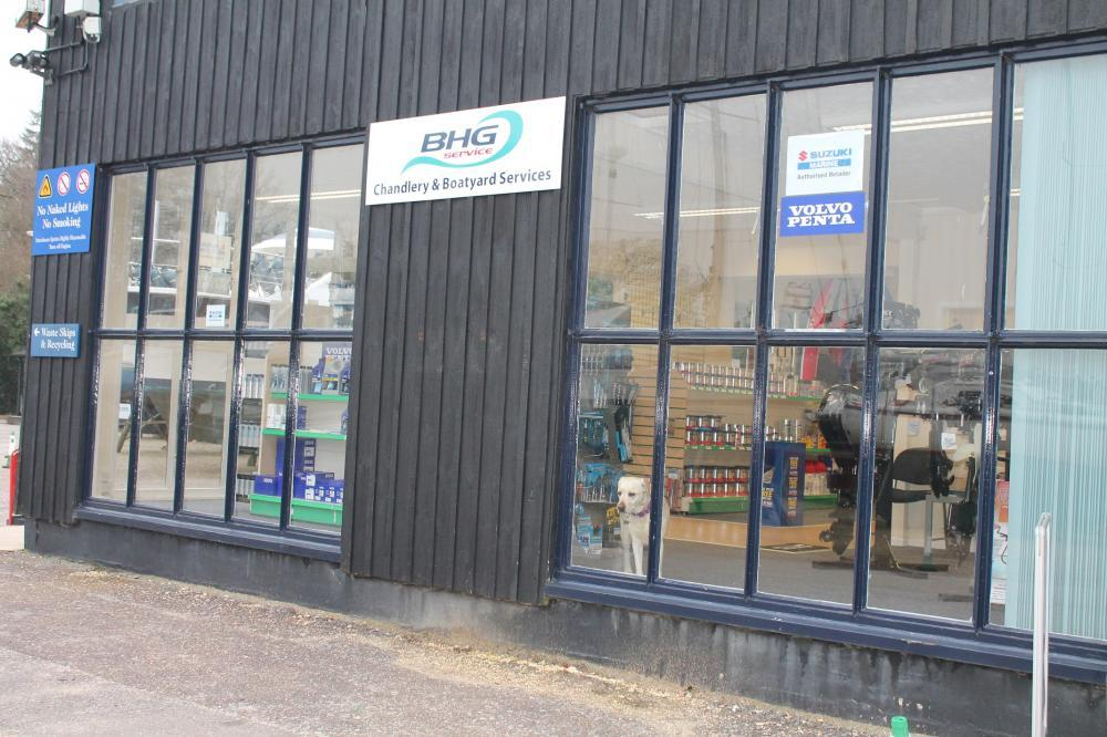 BHG Service Chandlery in Bucklers Hard, near Beaulieu