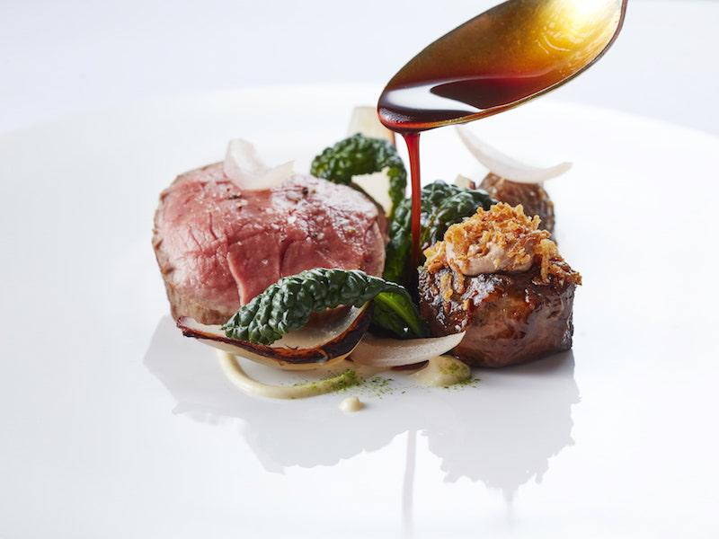 Beef at The Terrace Restaurant, Montagu Arms Hotel