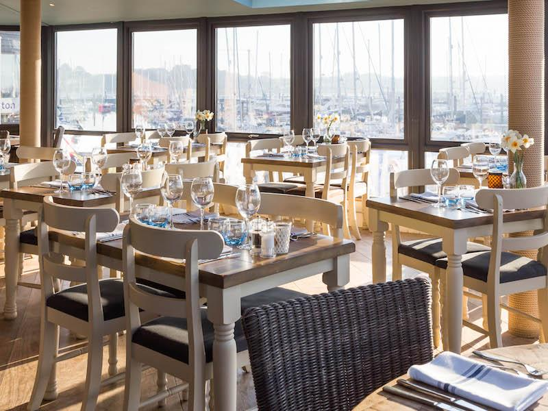 The Haven Restaurant has stunning views of the Lymington River and Solent