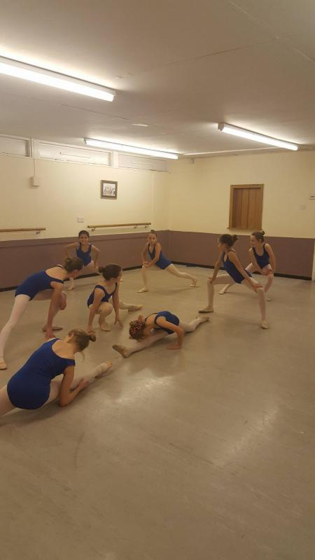 Limbering at New Forest Academy of Dance