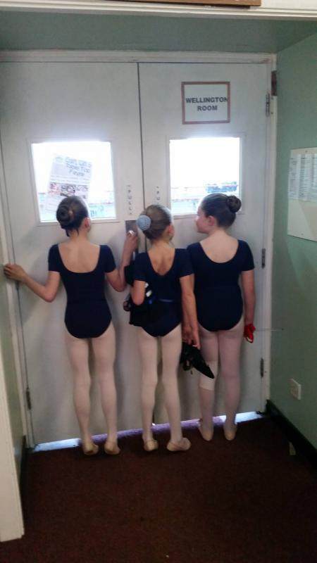 Ballerinas at New Forest Academy of Dance