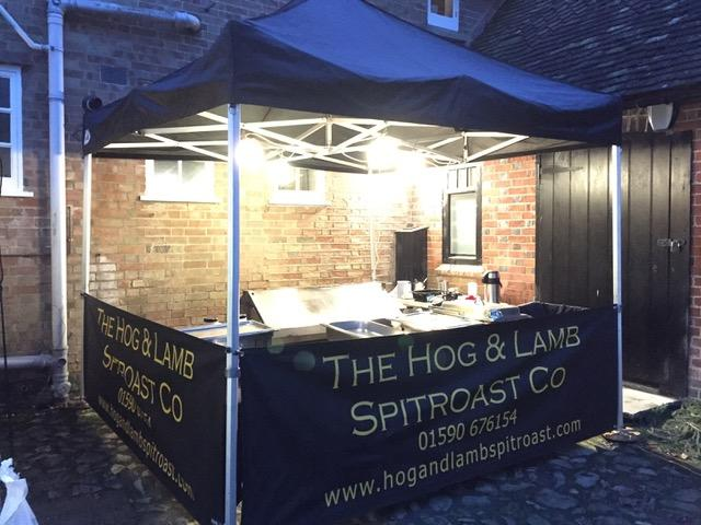Hog and Lamb Spitroast Company New Forest - inviting looking evening catering!