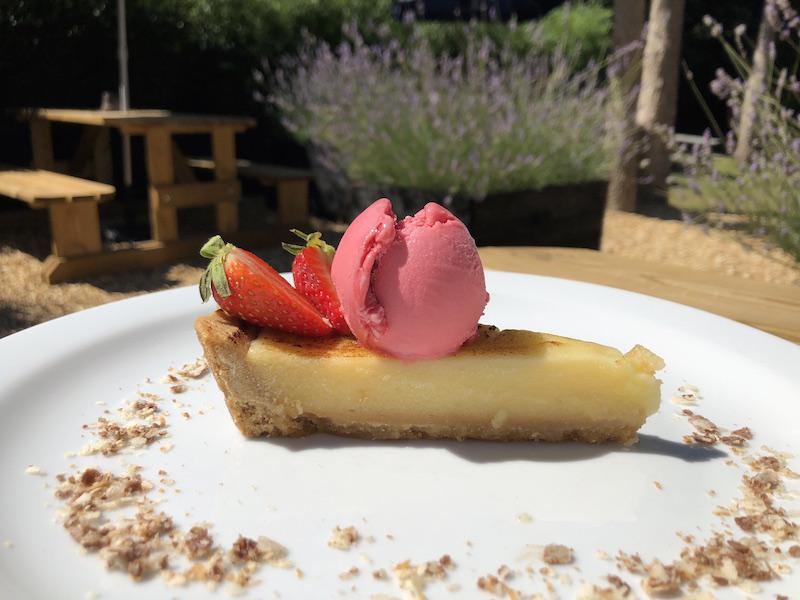 Lemon Pannacotta Tart at the Bosun's Chair Lymington
